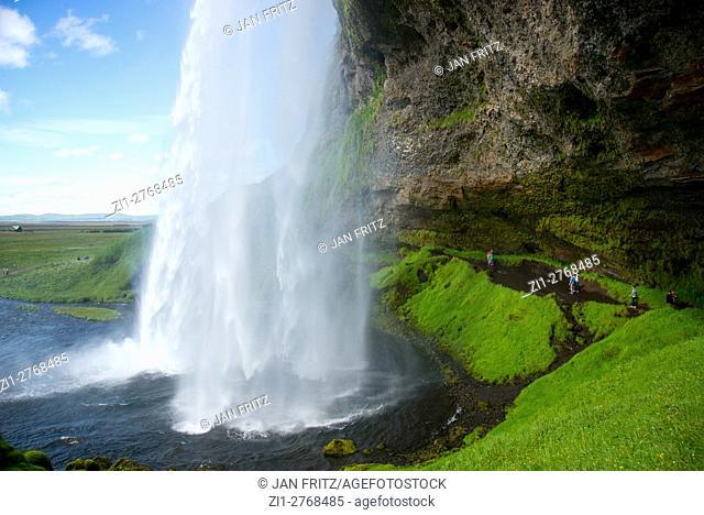 Seljalandfoss waterfall at Iceland