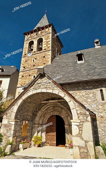 Church Plan, Huesca, Pyrenees Region, Navarre, Spain