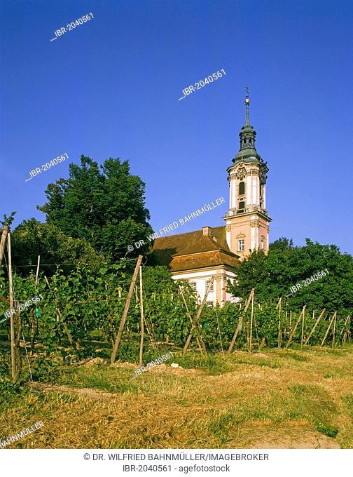 Birnau pilgrimage church, Birnau on Lake Constance, Baden-Wuerttemberg, Germany, Europe