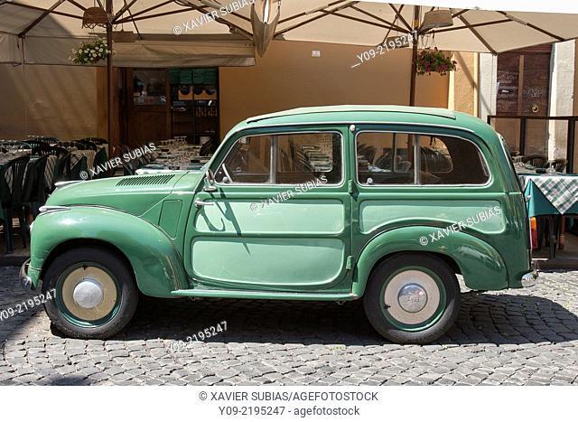 FIAT 500 C Giardiniera Belvedere, Rome, Lazio, Italy