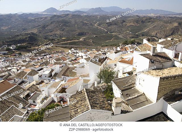 Panorama of Olvera is one of the most beautiful villages in Spain. Andalusia Spain
