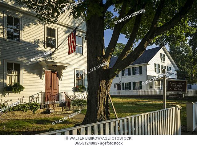 USA, New England, Cape Ann, Massachusetts, Annisquam, village center