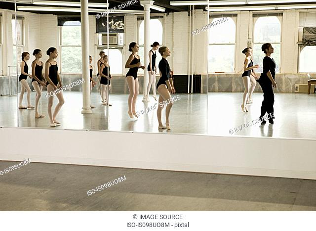 Reflection of ballet class