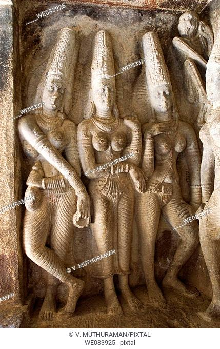 Sapta Matha  Dance( Seven Goddesses) in Ravanaphadi Cave temple in Aihole, Karnataka. Ravanaphadi Cave in Aihole, Karnataka, is a rock cut temple