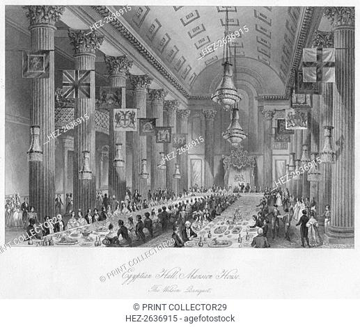 'Egyptian Hall, Mansion House: The Wilson Banquet', c1841. Artist: Henry Melville