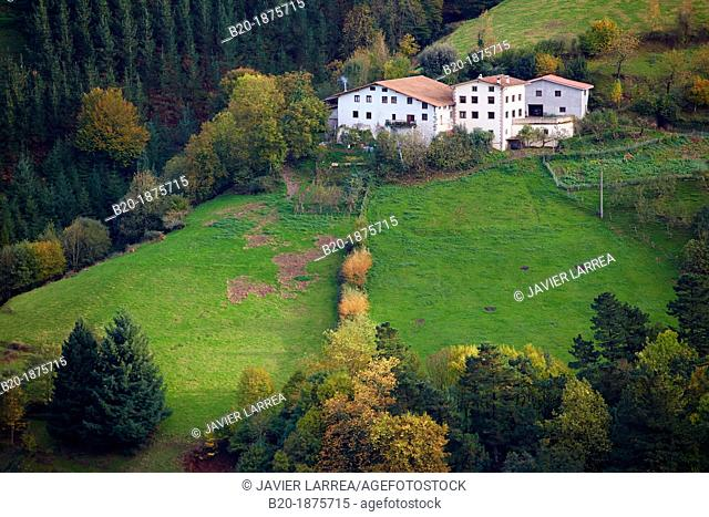 Farmhouses, Eibar, Gipuzkoa, Basque Country, Spain