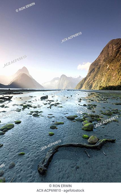 Milford Sound, a fjord on the West Coast of New Zealand's South Island in Fiordland National Park