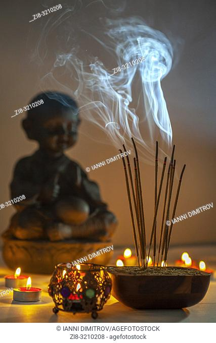 Burning incense sticks. Incense is used for aesthetic reasons, and in therapy, meditation, and ceremony. It may also be used as a simple deodorant or...