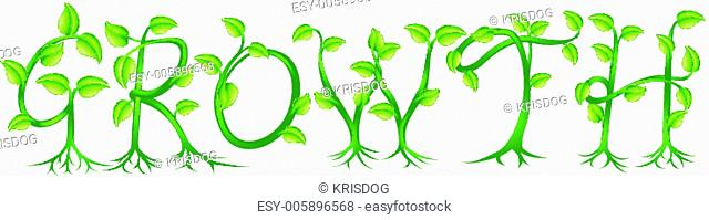 Growth plant typography concept
