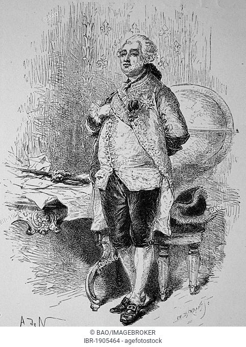 Louis XVI, woodcut from 1880