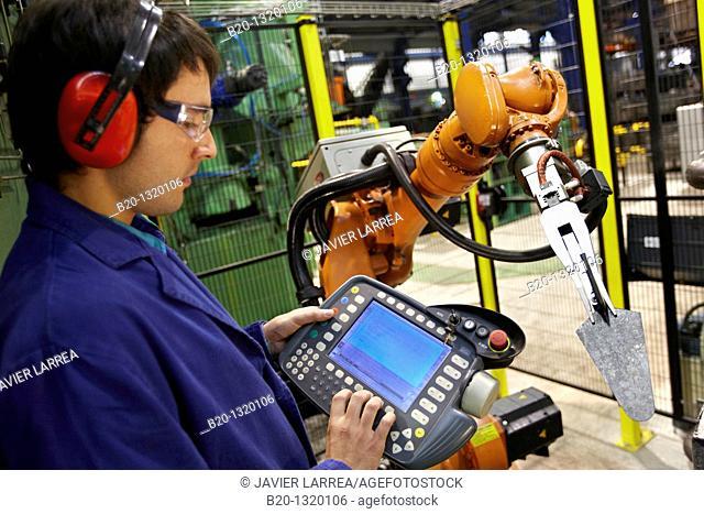 Forging robot, tools manufacturer, Gipuzkoa, Euskadi, Spain