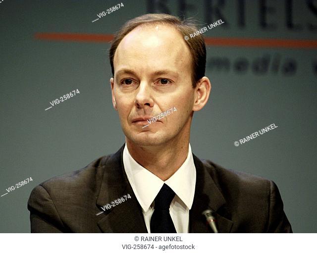 GERMANY, BERLIN, Bilanzpressekonferenz der Bertelsmann AG am 22.03.2006 : Thomas RABE , Vorstandsmitglied. - BERLIN, GERMANY, 22/03/2006