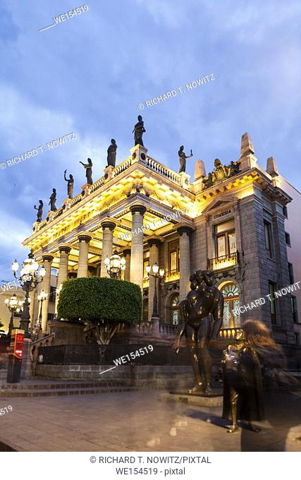 The Teatro Juarez is considered to be one of the most beautiful theaters in all of Mexico loacted in Guanajuato