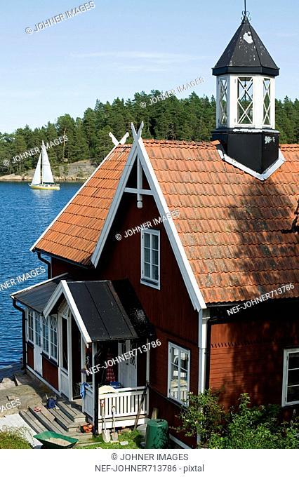 A villa i the archipelago of Stockholm, Sweden