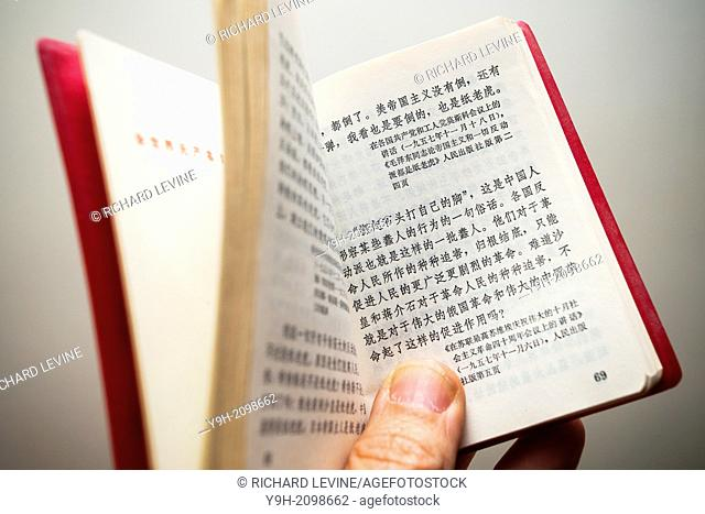 A vintage paperback copy of Chairman Mao Zedong's ''Quotations from Chairman Mao Tse-tung'', known as the ''Little Red Book