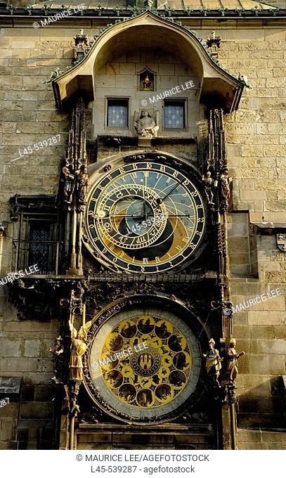 The Astronomical Clock in Prague. Czech Republic. 2006