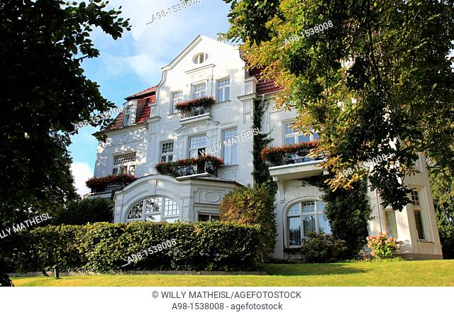 historic Villa Staudt at Seaside Resort Heringsdorf, Isle of Usedom, Western Pomerania, Germany, Europe