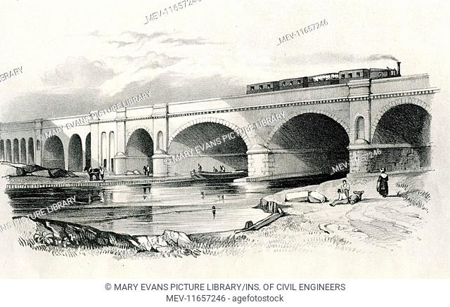 London and Greenwich Railway. View of arches over Surrey Canal