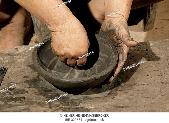 Potter at work, Caacupe, Paraguay, south America