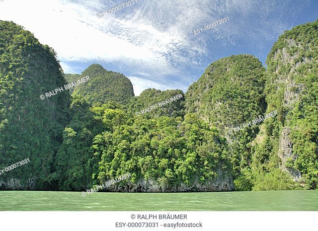 Kreidefelsen in Südthailand