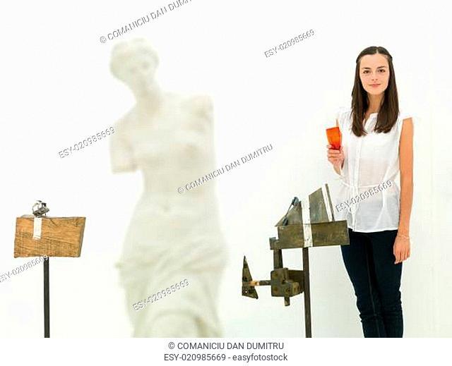 female artist and her artworks