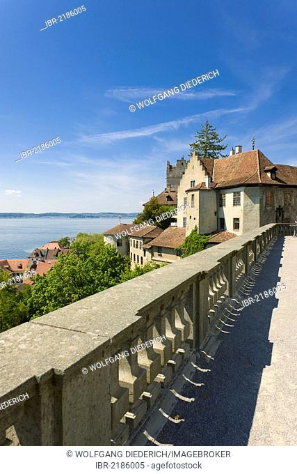Castle, Altes Schloss Castle, Meersburg, Lake Constance, Baden-Wuerttemberg, southern Germany, Germany, Europe, PublicGround