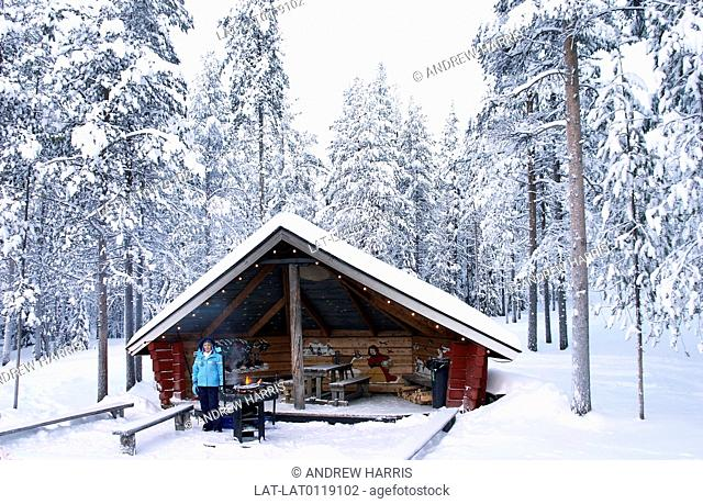 Lapland has a winter season which attracts vistors to the pine forests of the north,for ski-ing and winter sports. There are small log cabins in various resorts...