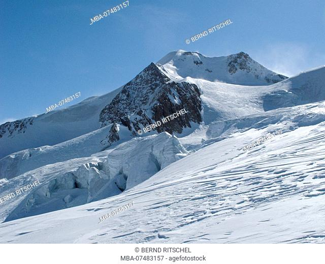 View from the Taschachferner on Wildspitze, Ötztaler Alps, Tyrol, Austria