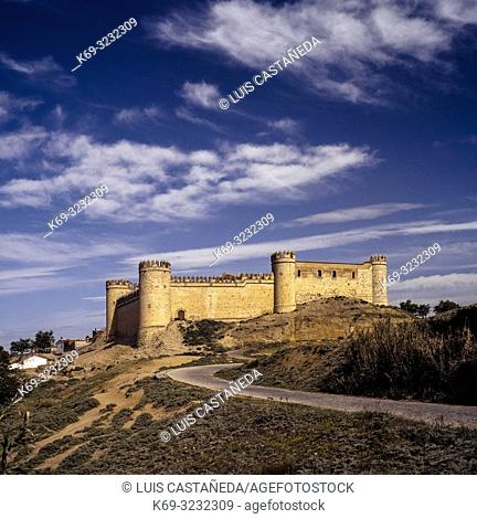 The Castle of Maqueda. (Toledo) Spain. . Maqueda is located in the comarca of Torrijos. The town is best known for its remarkably well-preserved castle