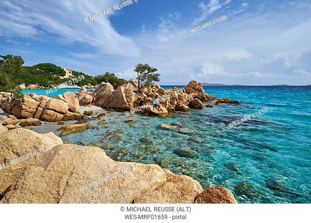 Italy, Sardinia, rock coast at Capriccioli