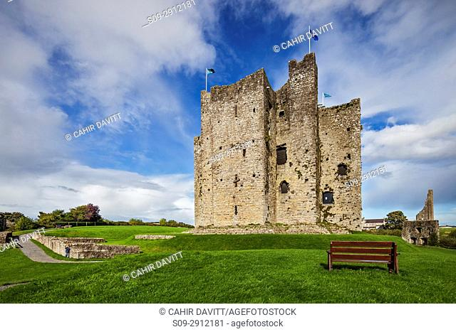 The keep of Trim Castle, the largest Norman Castle in Ireland, Trim, Co. Meath, Leinster, Ireland