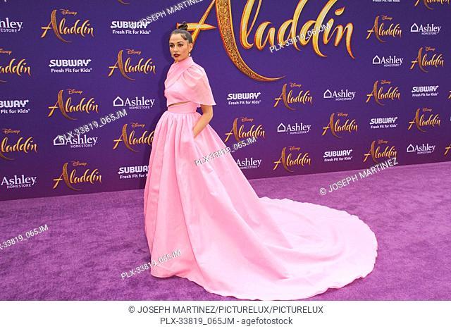"Naomi Scott at The World Premiere of Disney's """"Aladdin"""" held at El Capitan Theatre, Hollywood, CA, May 21, 2019. Photo Credit: Joseph Martinez / PictureLux"