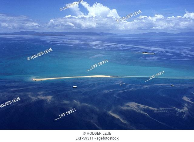 Aerial Photo of Bali Hai Sandbar, Near Hayman Island, Whitsunday Islands, Queensland, Australia