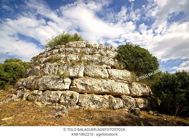 Circular Talaiot, Sa Clova des Xot, Sa Canova archaeological site of Morell Artà Mallorca Balearic Islands Spain