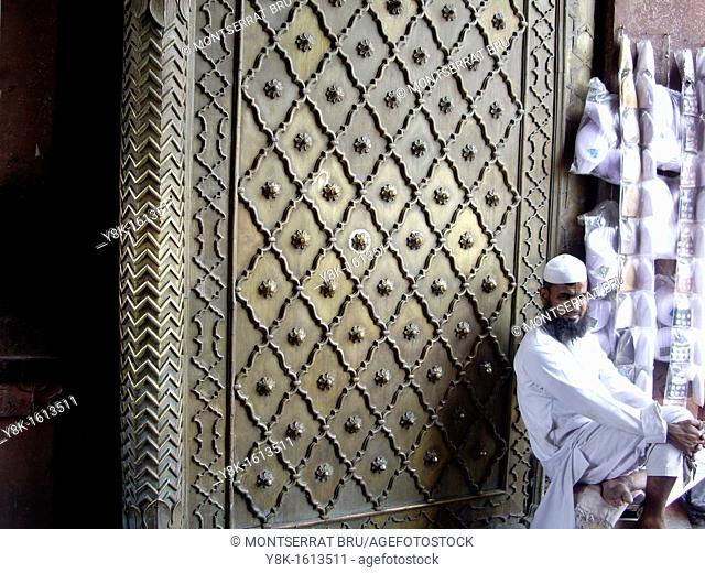 Stall at Jama Masjid mosque, Chandni Chowk, New Delhi, India