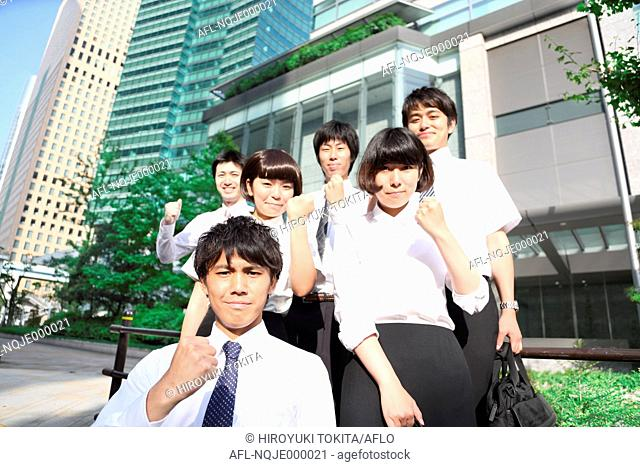 Young Japanese business people