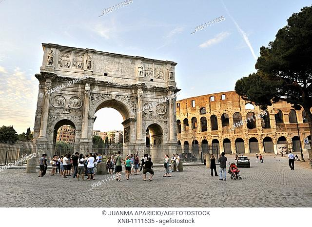View of the Arch of Constantine, Rome