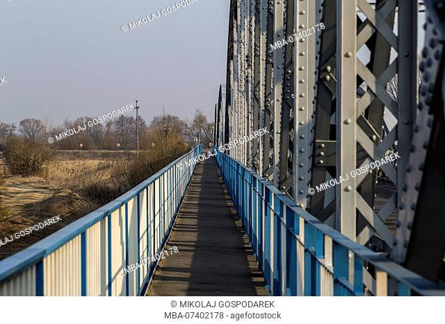 Europe, Poland, Podlaskie Voivodeship, Tykocin - Narew river bridge