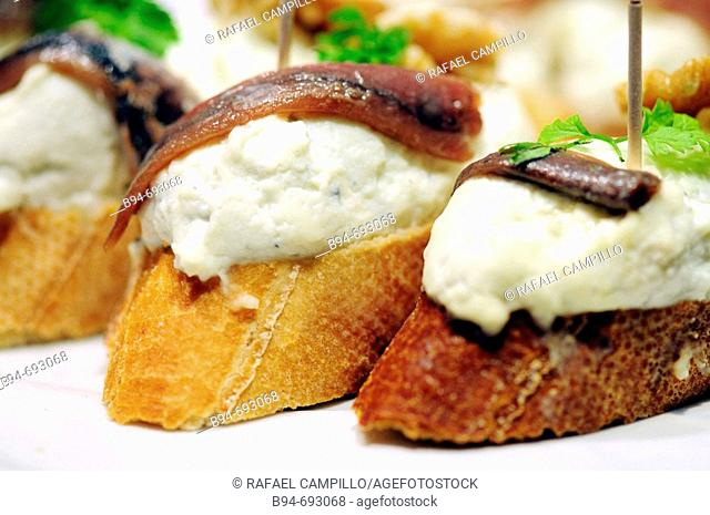 'Pintxos' typical dish of the Basque Country