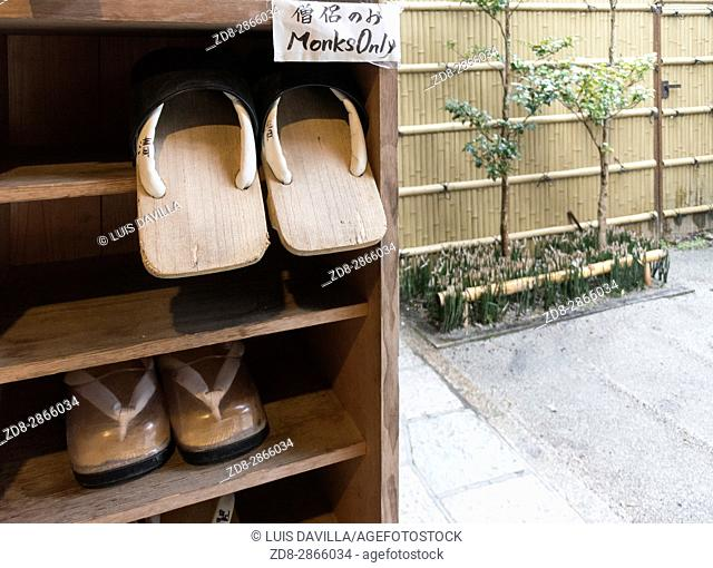 zori japanese sandals in This traditional Buddhist Temple, or Shukubo in Japanese, is located near the Mount Koya cable car station