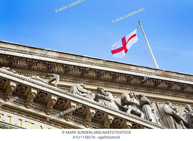 George Cross Flag Flying at Royal Exchange London England