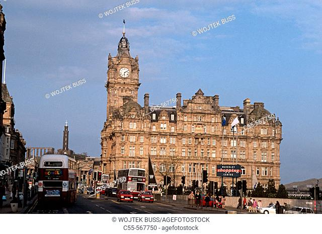 The Balmoral hotel. Princes street. Edinburgh. Scotland. UK