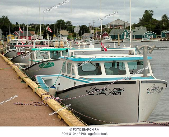 Canada, Prince Edward Island, Queens County, Gulf of Saint Lawrence, North Rustico, fishing village, marina, fishing boats