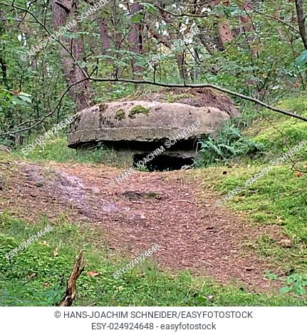 Bunker of ww2 in Poland