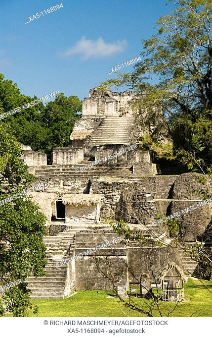 Great Plaza, North Acropolis, Tikal National Park, Peten, Guatemala