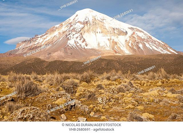 Sajama volcano. The highest mountain in Bolivia. Sajama National Park. Department of Oruro. Bolivia. South America