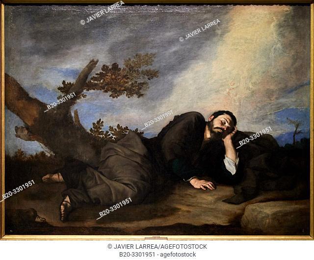 """Jacob's Dream"", 1639, José de Ribera (Jusepe de Ribera, Lo Spagnoletto), Prado Museum, Madrid, Spain, Europe"