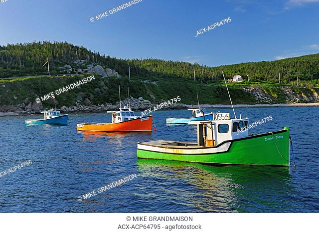 Fishing boats on Cape Breton Island, White Point, Nova Scotia, Canada