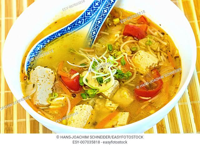 Chinese soup with tofu