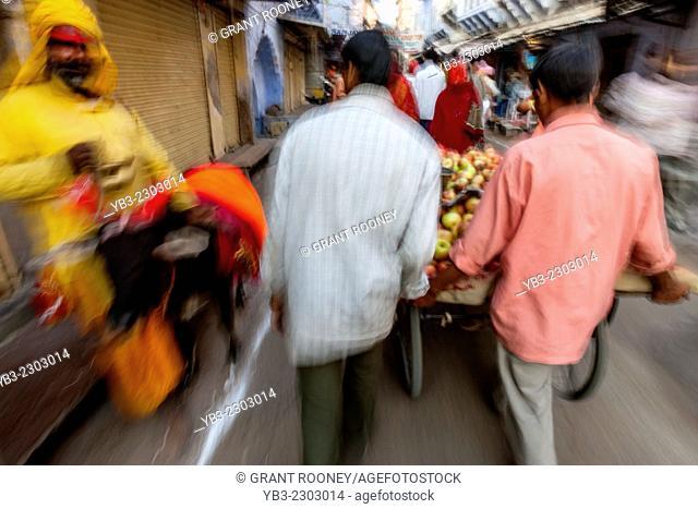 Colourful Street Scene, Pushkar, Rajasthan, India